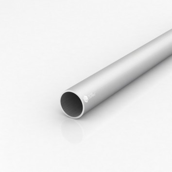Труба круглая алюминиевая ПАС-1706 35х2 / AS серебро
