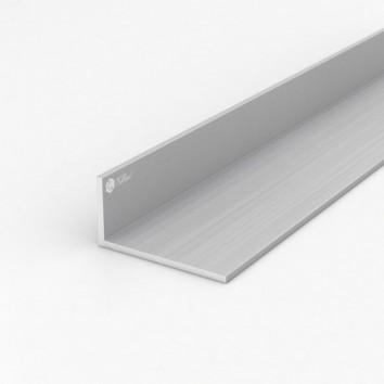 Уголок алюминиевый ПАС-1097 80х40х4 / AS серебро