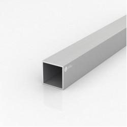 Труба квадратная алюминиевая ПАС-2195 40х40х2 / AS серебро