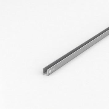 Швеллер алюминиевый (п-образный) ПАС-1220 12х12х1.5 / AS серебро