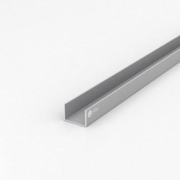 Швеллер алюминиевый (п-образный) ПАС-1750 30х20х1.5 / AS серебро