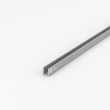 Швеллер алюминиевый (п-образный) ПАС-1779 13х15х1.5 / AS серебро