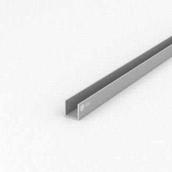Швеллер алюминиевый (п-образный) ПАА-3088 20х20х1.5 / AS серебро