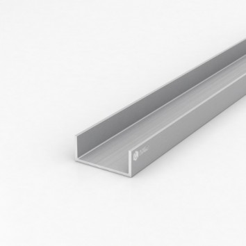 Швеллер алюминиевый (п-образный) OK-274 55х23х2.5 / AS серебро
