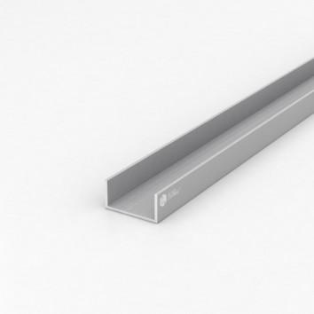 Швеллер алюминиевый (п-образный) ПАС-1092 40х20х2 / AS серебро