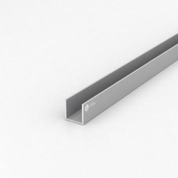 Швеллер алюминиевый (п-образный) ПАС-1839 25х25х2 / AS серебро