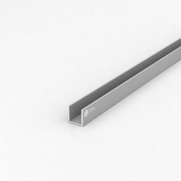 Швеллер алюминиевый (п-образный) ПАС-1546 19.6х20х1.8 / AS серебро