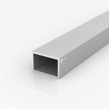 Труба прямоугольная алюминиевая ПАС-0471 60х40х3.5 / AS серебро