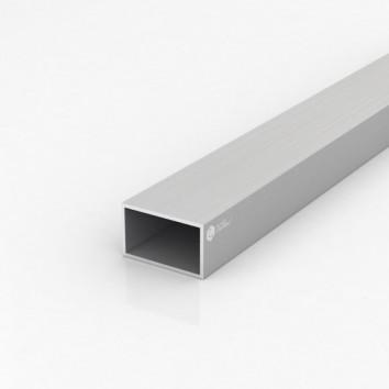 Труба прямоугольная алюминиевая ПАС-0967 50х30х2 / AS серебро