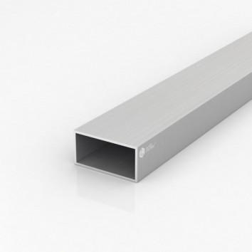 Труба прямоугольная алюминиевая ЗК-164 60х30х2 / AS серебро