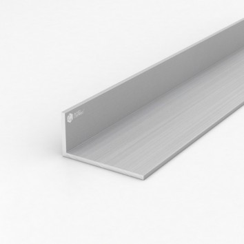 Уголок алюминиевый ПАС-1268 100х40х4 / AS серебро