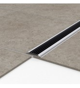 Порог алюминиевый уличный Р 50 47,5х5х1 м без цвета, без вставки ПВХ