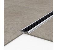 Порог алюминиевый уличный Р 50 47,5х5х3м без цвета