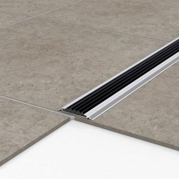 Порог алюминиевый уличный Р 50 47,5х5х1 м без цвета