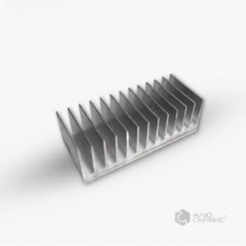 Радиатор алюминиевый охлаждения ОН-124 122х26 / без покрытия