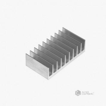 Радиатор алюминиевый охлаждения ПАС-0345 94х33 / без покрытия