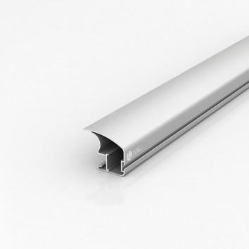 Профиль боковой А107 открытый серия EGO / AS серебро