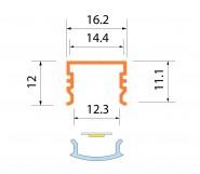 Светодиодная алюминиевая система ACK-1011.02 / AS