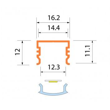 Светодиодная алюминиевая система ACK-1011.01 / AS