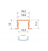 Светодиодная алюминиевая система ACK-1013.02 / AS
