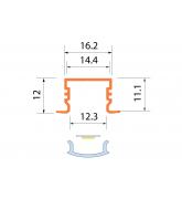 Светодиодная алюминиевая система ACK-1013.01 / AS