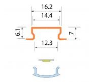 Светодиодная алюминиевая система ACK-1012.02 / AS