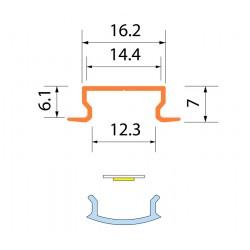 Светодиодная алюминиевая система ACK-1012.01 / AS