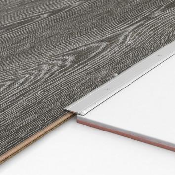 Порог алюминиевый декоративный П30 28х2х0,9 м серебро