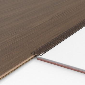 Порог алюминиевый декоративный П30 28х2х0,9 м венге