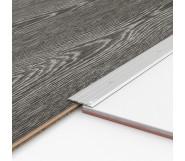 Порог алюминиевый декоративный П40 40х2,5х2,7 м серебро