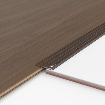 Порог алюминиевый декоративный П40 40х2,5х2,7 м венге