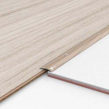 Порог алюминиевый декоративный ПК30 28х5х1,8м акация
