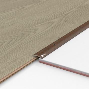 Порог алюминиевый декоративный ПК30 28х5х0,9м орех