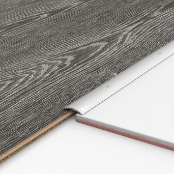 Порог алюминиевый декоративный ПК30 28х5х0,9м серебро