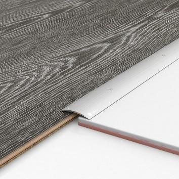 Порог алюминиевый декоративный ПК40 40х5х1,8м серебро