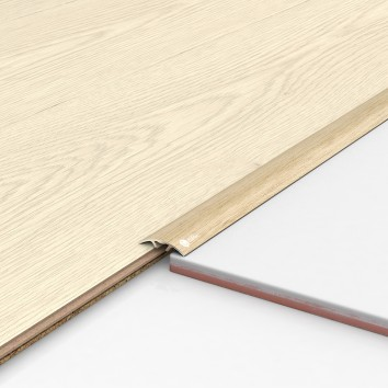 Порог алюминиевый декоративный ПКс30 28,2х5,4х0,9 м фиам светлый