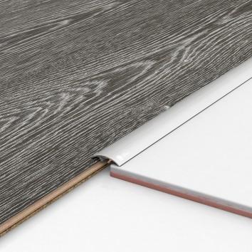 Порог алюминиевый декоративный ПКс30 28,2х5,4х0,9м серебро