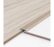 Порог алюминиевый декоративный ПКс40 39х5,4х2,7м акация
