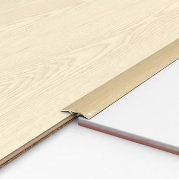 Порог алюминиевый декоративный ПКс40 39х5,4х0,9м дуб белый
