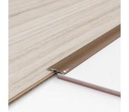 Порог алюминиевый декоративный ПКс40 39х5,4х2,7м дуб золотой