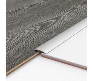 Порог алюминиевый декоративный ПКс40 39х5,4х2,7м серебро