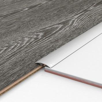 Порог алюминиевый декоративный ПКс40 39х5,4х1,8м серебро
