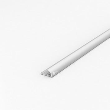 Порог алюминиевый декоративный ПЛ30 27х13,7х1,8 м серебро