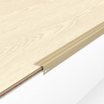 Порог алюминиевый декоративный У2025 23,5х19х0,9 м дуб белый