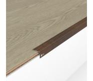 Порог алюминиевый декоративный У2025 23,5х19х2,7 м орех