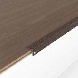 Порог алюминиевый декоративный У2025 23,5х19х1,8 м венге