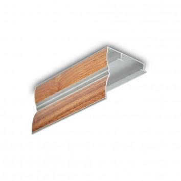 Карниз алюминиевый ПАС-1859 43х45 мм, S дерево светлое, 1 м