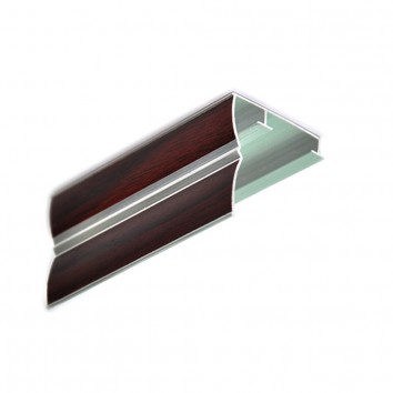 Карниз алюминиевый ПАС-1859 43х45 мм, S махагон, 1 м