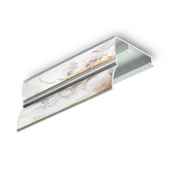 Карниз алюминиевый ПАС-1859 43х45 мм, S мрамор, 1 м