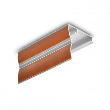 Карниз алюминиевый ПАС-1859 43х45, S ольха, 1 м